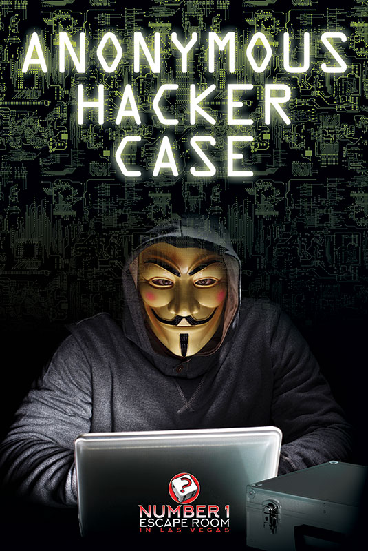 number one escape room, anonymous hacker case escape game